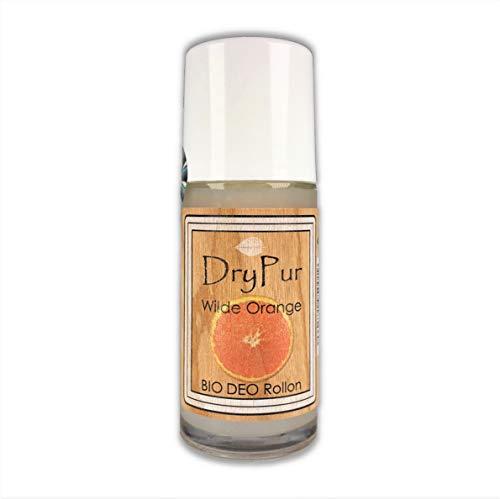 DryPur - BIO Deo Rollon *Wilde Orange* - ohne Aluminium, Alkohol oder künstliche Zusätze - Naturkosmetik Deodorant im Deo Roller - Vegan, ohne Parabene und Silikone