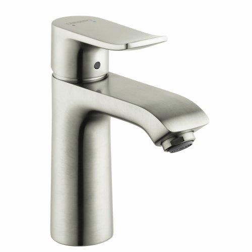 hansgrohe Metris Modern Upgrade Easy Install 1-Handle 1 7-inch Tall Bathroom Sink Faucet in Brushed Nickel, 31080821