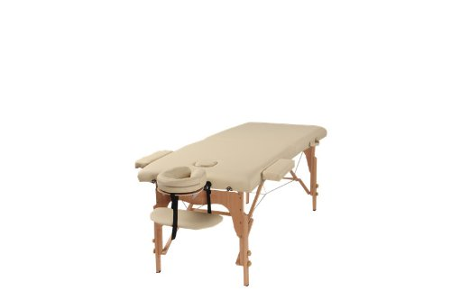 The Best Massage Table Two Fold Beige Portable Massage Table - PU Leather High Quality