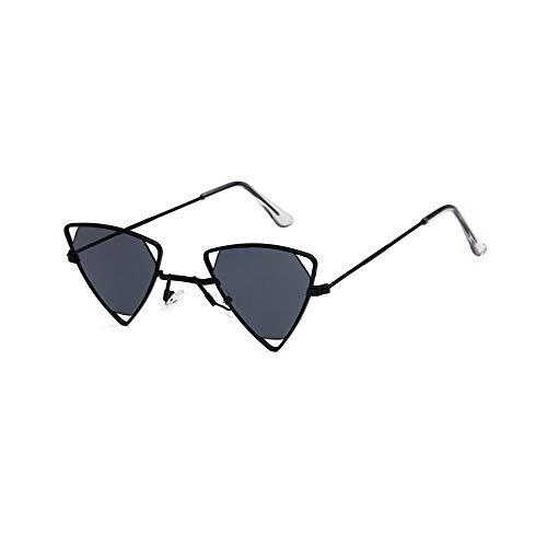 LeftSuper Gafas de Sol Exquisito Triángulo Retro Resina Hueca y diseño de Metal Personalidad Exquisita Gafas de Sol Estilo Punk con Estilo