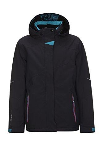 Killtec Xia Jr ski-jack voor meisjes, functionele jas met capuchon en sneeuwvanger