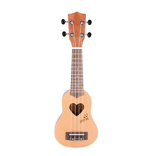 Fdit IRIN - Ukelele portátil (4 cuerdas, 17', con bolsillo, regalo)