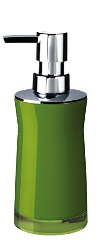 Ridder dispensador de jabón Discoteca, acrílico, Verde, 6,5x 6,5x 19cm