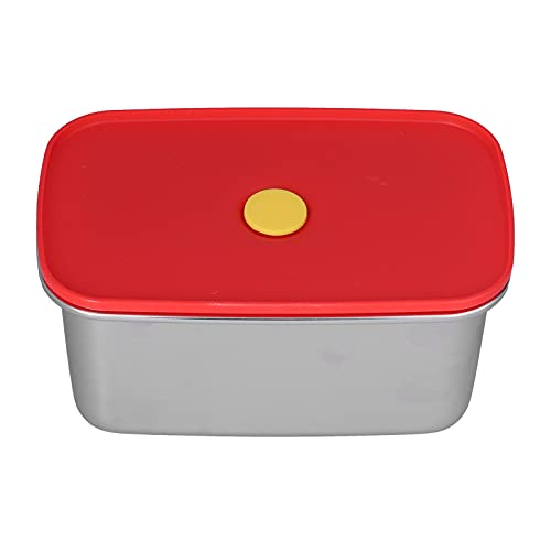 Fiambrera roja, no contaminante, buen sellado, ligero, fácil de limpiar, caja bento, contenedores de comida para trabajadores, estudiantes(1300ml)