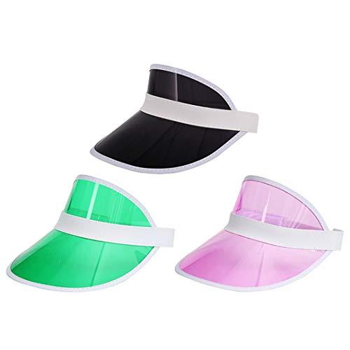 Women Visors Clear Hat Sun Cap for Men Uv Protection Reflective Sport Transparent Hats Visor