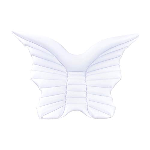 HHYSPA Water Inflatable Floating Bed,Angel Wings Floating Row Floating Bed Swimming Pool Inflatable Floating Bed Floating Chair, Water Sofa, Beach Mat for Adult Kids Summer Outdoor Swimming