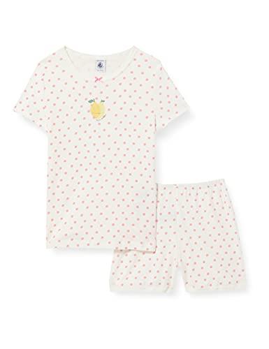 Petit Bateau 5997101 Pajama Set, Marshmallow/Gretel, 4 Ans Girls