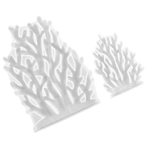 Artibetter 2 Pcs Corail Fondant Moules Bricolage Moulage Moule De Table en Silicone Décor Moule À La Main Silicone Moule Silicone Cuisson Moule Pâtisserie Cookie Gâteau Décoration