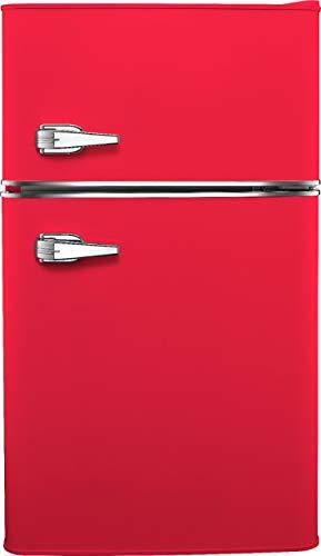 Insignia 3.1 cu. ft. Retro Mini Fridge with Top Freezer (Hot rod red)