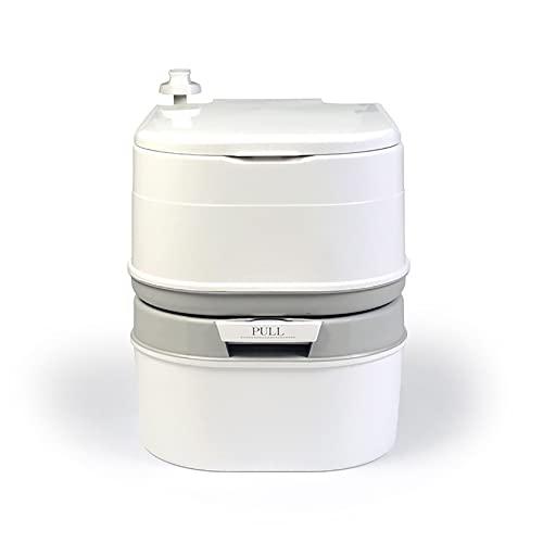 6.3 gallone (24 L) PREMIUM Toilet Toilet WC Separazione con un serbatoio di rifiuti con un tacco singolo ad alta capacità Portatile Portable Outdoor Doppia Commode Progettato per il campeggio, RV, Can