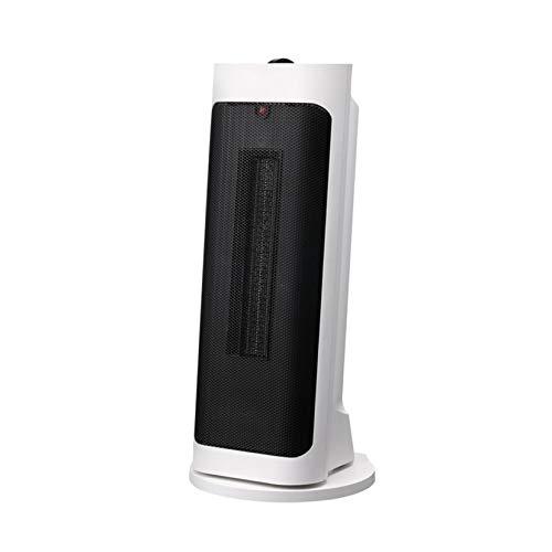 SHPEHP Pequeño Calefactor Vertical,Bajo Consumo Calentador De Espacio Cerámico Calentador De Espacio Personal 3s Calentamiento rápido Sistema Antivuelco Protección contra Sobrecalentami-Blanco Un