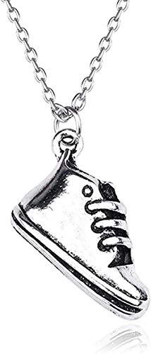 Yiffshunl Halskette Mode Männer Halsketten Mode Kreative Leinwand Schuhe Retro Hip Hop Anhänger Schuhe