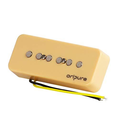 OriPure handgefertigter Alnico 5 Pickup P90 Gitarren-Tonabnehmer für P90 Stil E-Gitarre Teil 9,3 K, Steg