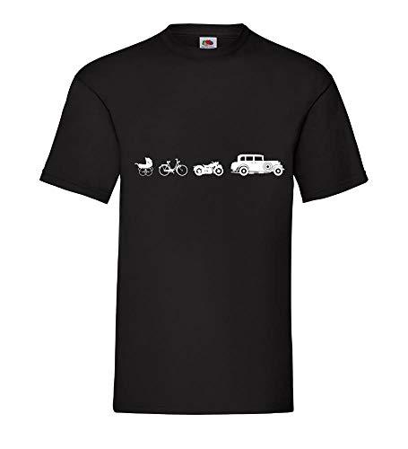 Oldtimer Evolution Männer T-Shirt Schwarz 3XL - shirt84.de
