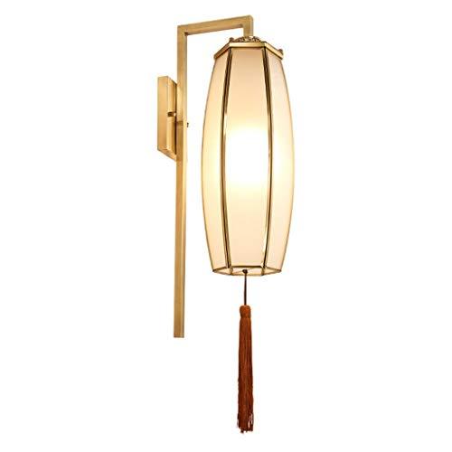 Lámparas de pared Sala de estar interior Antecedentes del estilo chino de cobre lámpara de pared de la sala de estar lámpara de pared del pasillo caliente lámpara de pared de la cabecera del hotel Cor
