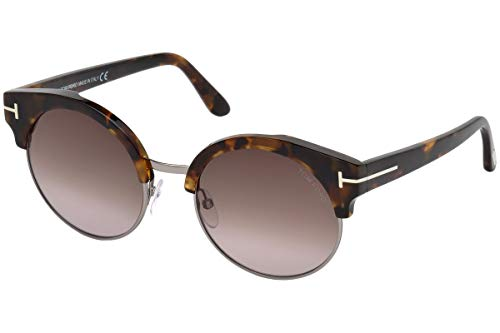 Tom Ford FT0608 Alissa-02 Zonnebril Havana w/Brown Gradient Lens 54mm 55Z TF608 TF 608 FT608 FT 608
