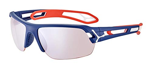 Cébé S'Track M Gafas de Sol, Adultos Unisex, Matt Navy Red, Large