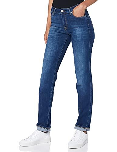 Lee Damen Marion Straight Jeans, Night Sky, 36W / 33L