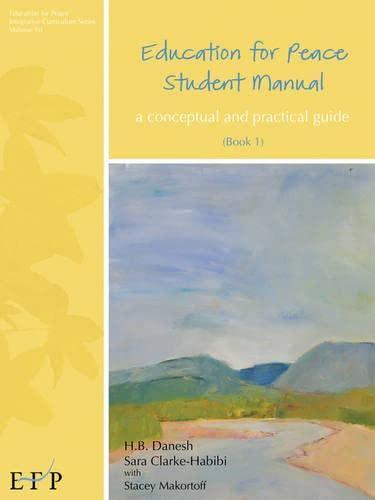 Education For Peace Student Manual Book 1 Education For Peace Integrative Curriculum