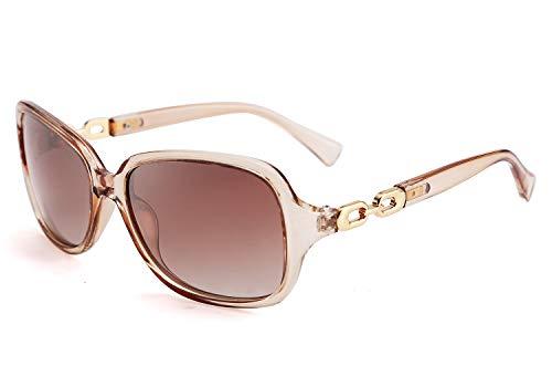FEISEDY Retro Damen polarisierte Sonnenbrille 100% UV400 Outdoor Street Fashion Sonnenbrille B2526
