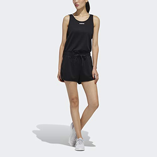 adidas Damen Women AAA Jumpsuit Kleid, schwarz/weiß, X-Large