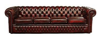 Designer Sofas4u Chesterfield - Divano 4 posti, in Pelle