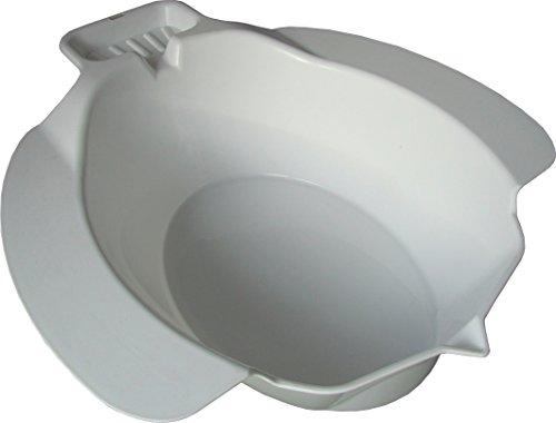 Teckmedi Sitzbad Bidet Sitzbadewanne Toiletteneinsatz aus Kunststoff und mit Seifenablage, Farbe: weiß TOP-QUALITÄT