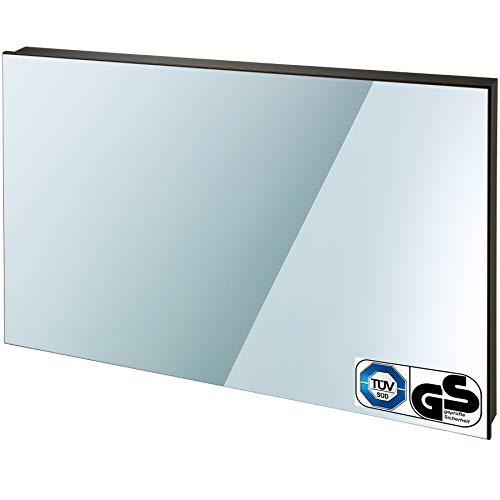 TecTake Spiegel Infrarotheizung Spiegelheizung ESG Glas Elektroheizung Infrarot Heizkörper Heizung inkl. Wandhalterung - 2