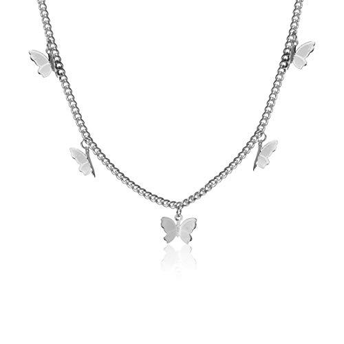 GVUSMIL Schmetterling Halskette zum Frauen Mädchen Y Anhänger Halsband Kette Halskette Charme Schmuck Geschenk zum Ihr