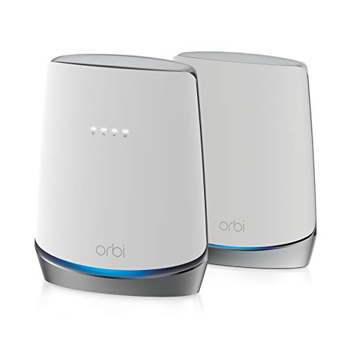 NETGEAR Orbi Whole Home WiFi 6 System with DOCSIS 3.1 Built-in Cable Modem (CBK752) – Cable Modem Router + 1 Satellite Extender | Covers up to 5,000 sq. ft. 40+ Devices | AX4200 (Up to 4.2Gbps)