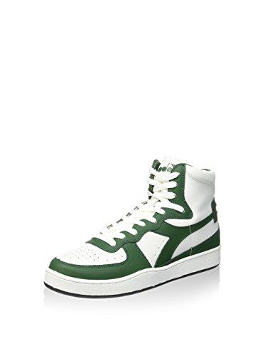 Diadora Sneaker Alta Mi Basket Bianco/Verde EU 46 (11.5 UK)