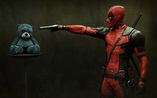 Deadpool Wallpaper Deadpool Mural Marvel Heroes Series Background Wall Avengers Spider-Man Iron Man Children's Room Wallpaper F