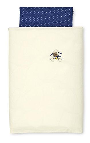 Sterntaler Literie pour Bébé, Oreiller et Couverture, Mouton Stanley, Âge : Dès la Naissance, Dimensions : 80 x 80 cm, Beige