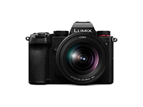 Panasonic LUMIX DC-S5KE-K Systemkamera (24 MP, 4K, Dual I.S., Touchscreen, OLED-Sucher, Staub-/Spritzwasserschutz) mit Objektiv R2060E, schwarz