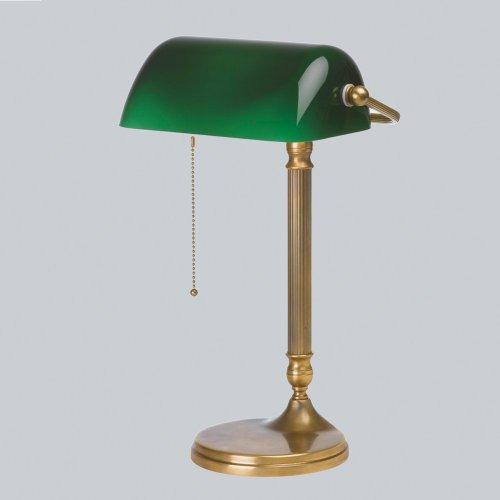 Bankerlampe Schreibtischlampe Berliner Messing W7-99gr B