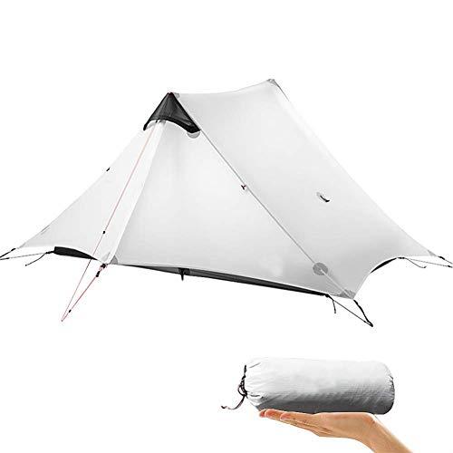 litthb Tente ultralégère, Support en Silicone PU imperméable à Double Maille en Nylon 15D de Haute qualité, Sac de Rangement en Maille intégré, adapté aux Voyages en Plein air, Escalade