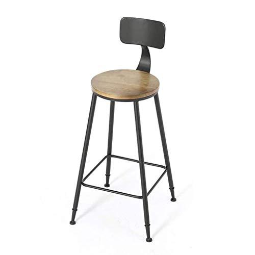 ZXSFD Tabouret de bar rétro CHAISE moderne Minimaliste haut tabourets cadre en métal et Chaise de bar dossier, Simplicité, Design ergonomique