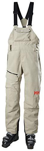 Helly-Hansen Womens Powderqueen Waterproof Bib Ski Pant, 857 Pelican, Medium