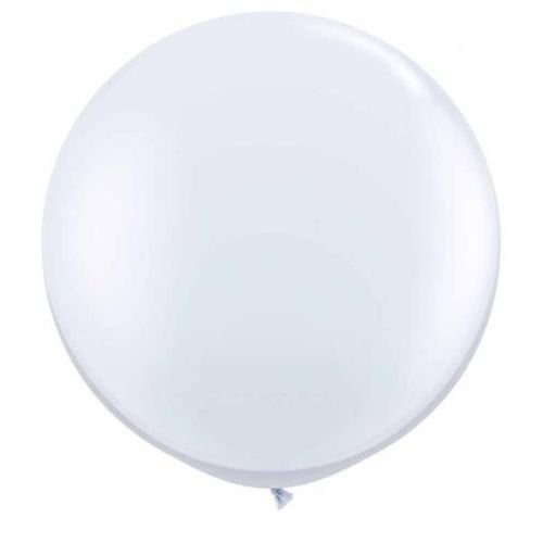 BWS- Pallone Palloncino Maxi Gigante, Colore Bianco Pastello, 130 cm, RG350-01