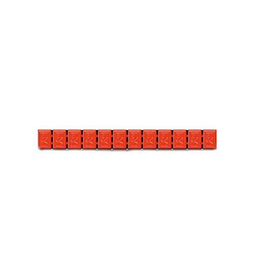 6x Wuchtgewichte Klebegewichte orange Typ380 60g Hofmann Power Weight, Bunte Klebegewichte für Alufelgen Leichtmetallfelgen, Auswuchtgewichte orange