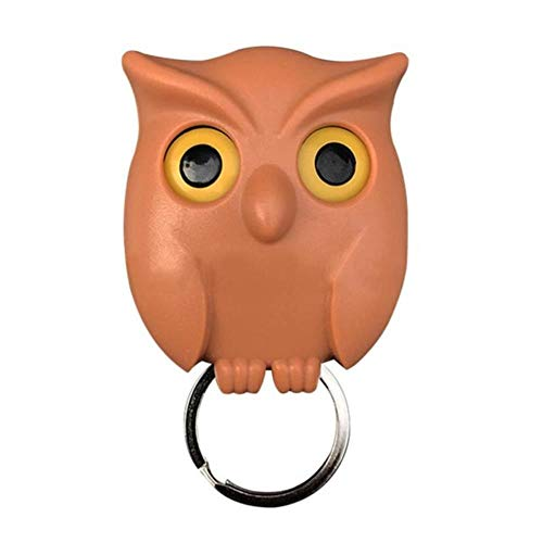 1 stuks uil nachtmuur magnetische sleutelhouder magneten houden sleutelhanger sleutelhanger haak hangende sleutel zal ogen openen, koffie
