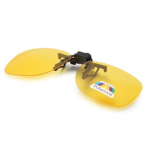 Aroncent Gafa de Sol Polarizada con Clip de Metal Lente Montable contra UV400 para Carreras, Conducción, Golf, y Mucho Más Deportes Exteriores
