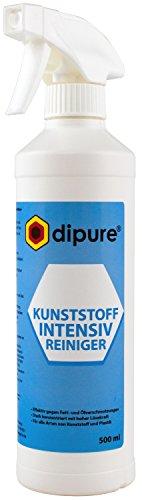dipure® Kunststoff Intensiv Reiniger 500 ml - Spezial Reinigungsmittel für Kunststoff-Fensterrahmen, Gartenmöbel (Plastik)