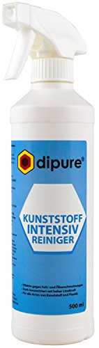 dipure Kunststoff Intensiv Reiniger 500 ml - Spezial Reinigungsmittel für Kunststoff-Fensterrahmen, Gartenmöbel (Plastik)