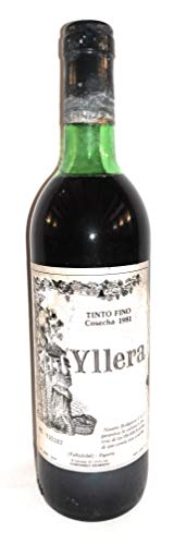 Yllera 1981. Valladolid. Botella de vino Tinto Fino.