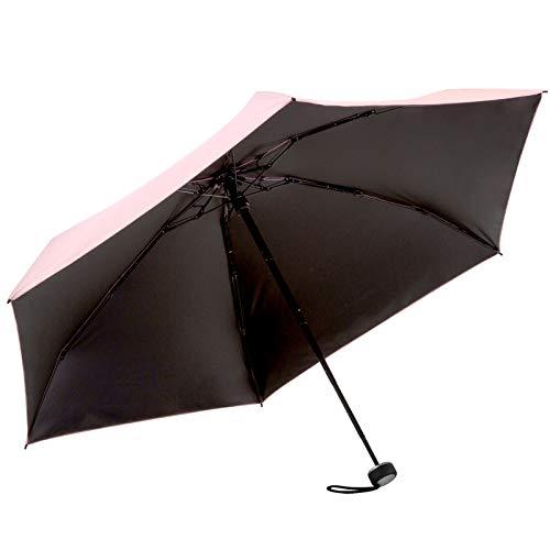 solshade ソルシェード 晴雨兼用 日傘 3段 折りたたみ 完全遮光 小型・軽量 コンパクト ミニサイズ ピンク // 折り畳み傘 晴雨兼用 耐風設計 軽量 完全遮光 100% 撥水 UVカット UPF 50+ (ミニ 017)
