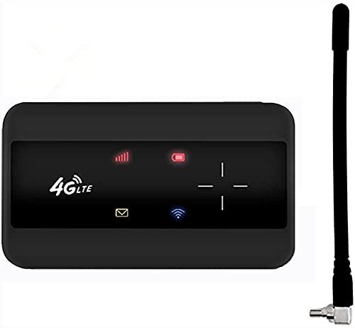 KuWFi Mobiler WLAN Router 4g Router LTE Wireless Portable Modem Pocket Mobiler Hotspot Hotspot Für Bis Zu 10 Geräte WiFi überall Einrichten Mit SIM-Kartensteckplatz und Antenna
