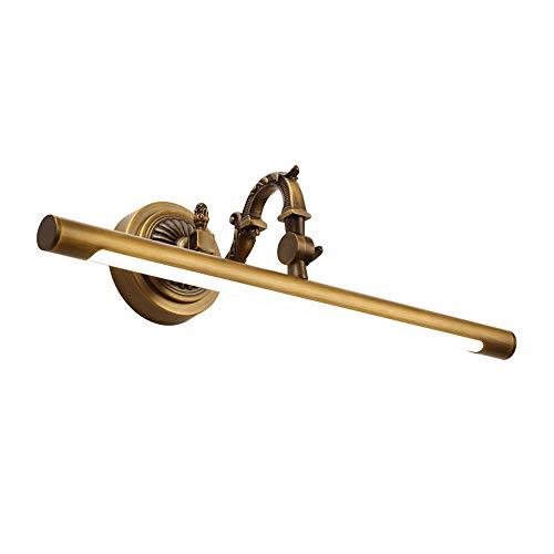 Amerikanische Led Messing Spiegel Scheinwerfer Badezimmer Badezimmerschrank Spiegel Kabinett Lampe Retro Kupfer Spiegel Licht Wasserdicht Anti-fog Feuchtigkeit (Farbe : Bronze, größe : 35cm)