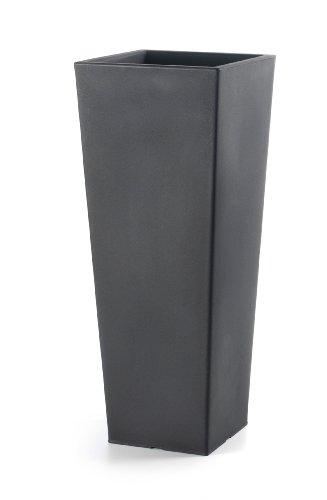 Floralo 'Chieti Pot avec bac, résiste au Gel carré 40 x H100 cm Anthracite