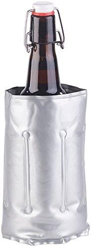 infactory Flaschenkühler mit Klettverschluss für Ø 75-86 mm, Kühl- & Wärme-Gel